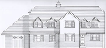Elevation drawing of the extension