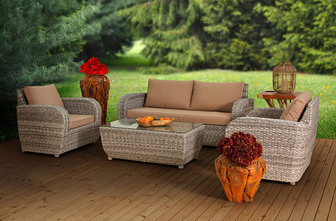 Dahlia 3 Seat Sofa Set by RattanGardenFurniture.co.uk