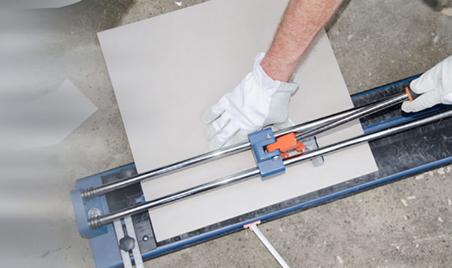 using a tile cutter