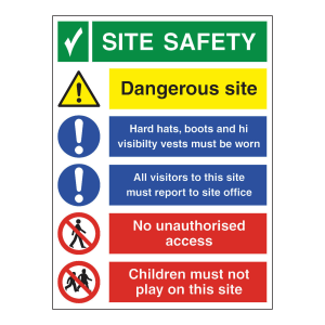 site safety construction sign